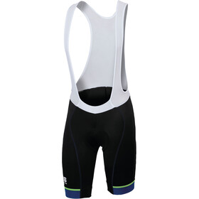 Sportful Giro Bibshort Men black/blue twilight/yellow fluo